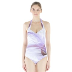 Ring Feather Marriage Pink Gold Halter Swimsuit