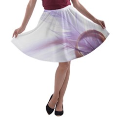 Ring Feather Marriage Pink Gold A Line Skater Skirt