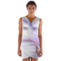 Ring Feather Marriage Pink Gold Wrap Front Bodycon Dress