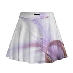 Ring Feather Marriage Pink Gold Mini Flare Skirt