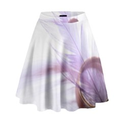 Ring Feather Marriage Pink Gold High Waist Skirt