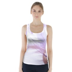 Ring Feather Marriage Pink Gold Racer Back Sports Top