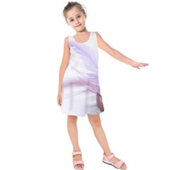 Ring Feather Marriage Pink Gold Kids  Sleeveless Dress