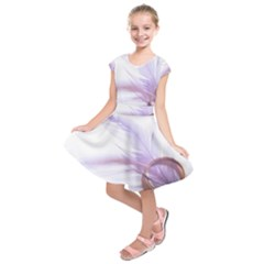 Ring Feather Marriage Pink Gold Kids  Short Sleeve Dress
