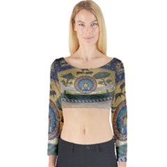 Peace Monument Werder Mountain Long Sleeve Crop Top