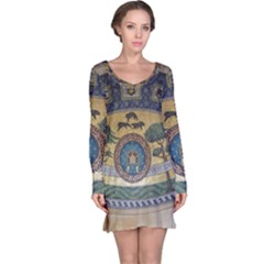 Peace Monument Werder Mountain Long Sleeve Nightdress
