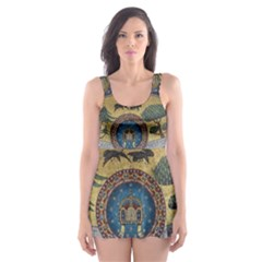 Peace Monument Werder Mountain Skater Dress Swimsuit