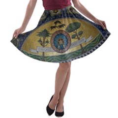 Peace Monument Werder Mountain A Line Skater Skirt