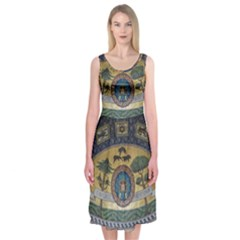 Peace Monument Werder Mountain Midi Sleeveless Dress