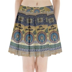 Peace Monument Werder Mountain Pleated Mini Skirt