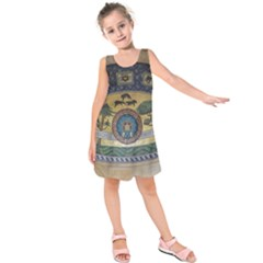 Peace Monument Werder Mountain Kids  Sleeveless Dress