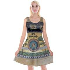 Peace Monument Werder Mountain Reversible Velvet Sleeveless Dress