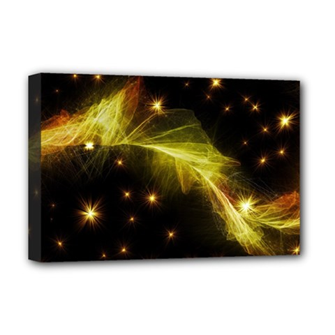 Particles Vibration Line Wave Deluxe Canvas 18  X 12