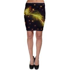 Particles Vibration Line Wave Bodycon Skirt