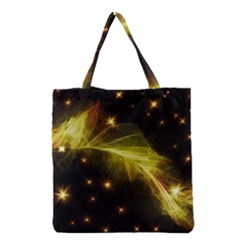 Particles Vibration Line Wave Grocery Tote Bag