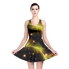Particles Vibration Line Wave Reversible Skater Dress