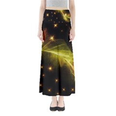 Particles Vibration Line Wave Maxi Skirts