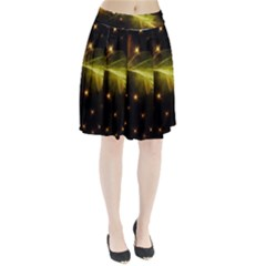 Particles Vibration Line Wave Pleated Skirt