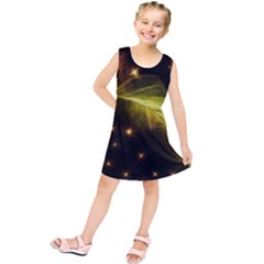 Particles Vibration Line Wave Kids  Tunic Dress