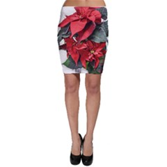 Star Of Bethlehem Star Red Bodycon Skirt
