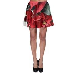 Star Of Bethlehem Star Red Skater Skirt