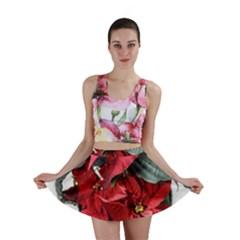 Star Of Bethlehem Star Red Mini Skirt