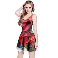 Star Of Bethlehem Star Red Reversible Sleeveless Dress
