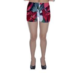 Star Of Bethlehem Star Red Skinny Shorts
