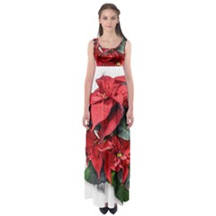 Star Of Bethlehem Star Red Empire Waist Maxi Dress