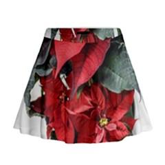 Star Of Bethlehem Star Red Mini Flare Skirt