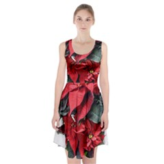 Star Of Bethlehem Star Red Racerback Midi Dress