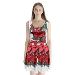 Star Of Bethlehem Star Red Split Back Mini Dress