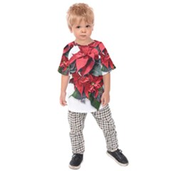 Star Of Bethlehem Star Red Kids  Raglan Tee