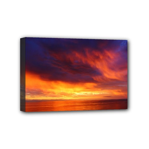 Sunset The Pacific Ocean Evening Mini Canvas 6  X 4