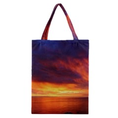 Sunset The Pacific Ocean Evening Classic Tote Bag