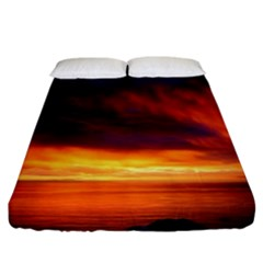 Sunset The Pacific Ocean Evening Fitted Sheet (california King Size)