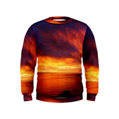 Sunset The Pacific Ocean Evening Kids  Sweatshirt