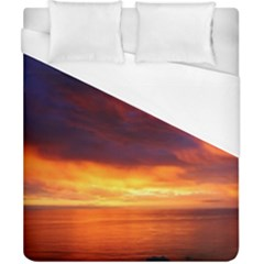 Sunset The Pacific Ocean Evening Duvet Cover (california King Size)