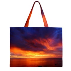 Sunset The Pacific Ocean Evening Large Tote Bag