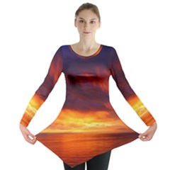 Sunset The Pacific Ocean Evening Long Sleeve Tunic
