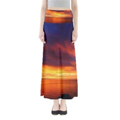 Sunset The Pacific Ocean Evening Maxi Skirts