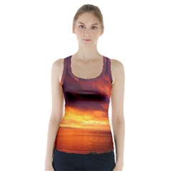 Sunset The Pacific Ocean Evening Racer Back Sports Top