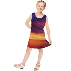 Sunset The Pacific Ocean Evening Kids  Tunic Dress