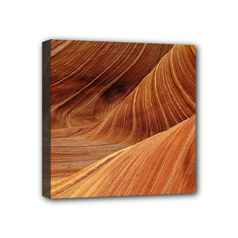 Sandstone The Wave Rock Nature Red Sand Mini Canvas 4  X 4