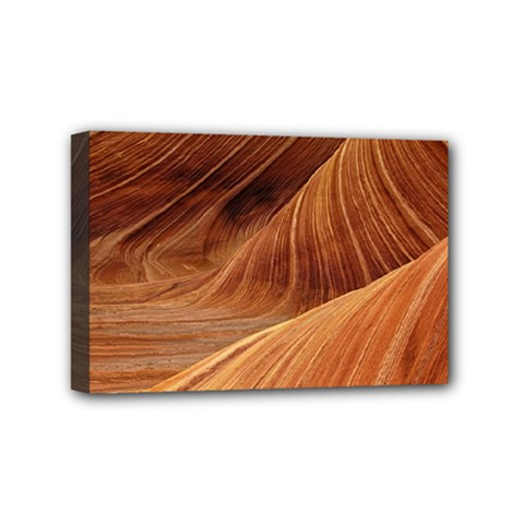 Sandstone The Wave Rock Nature Red Sand Mini Canvas 6  X 4