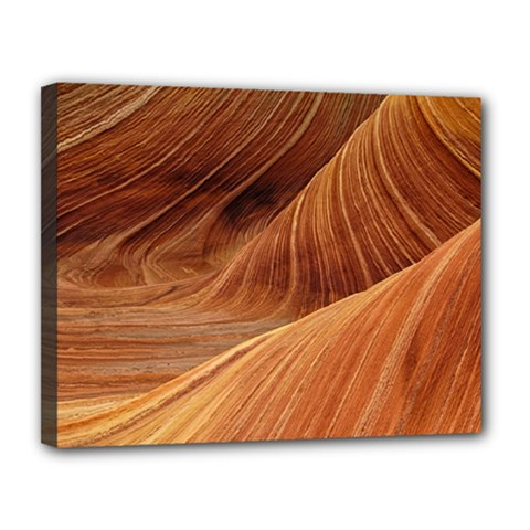 Sandstone The Wave Rock Nature Red Sand Canvas 14  X 11