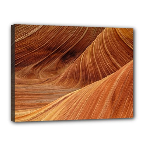 Sandstone The Wave Rock Nature Red Sand Canvas 16  X 12