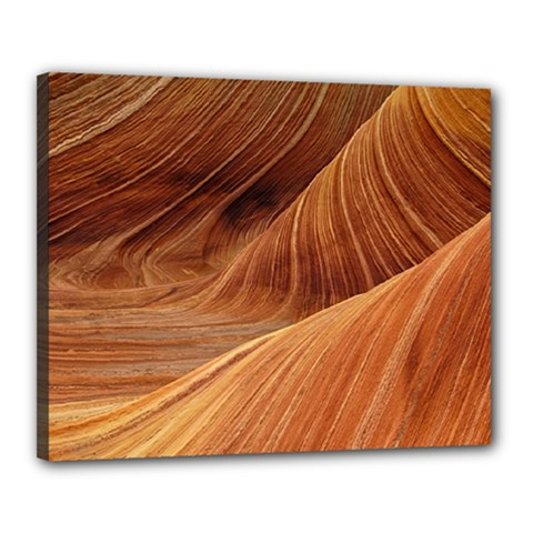 Sandstone The Wave Rock Nature Red Sand Canvas 20  X 16