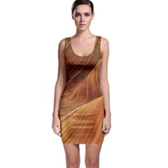 Sandstone The Wave Rock Nature Red Sand Sleeveless Bodycon Dress