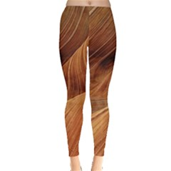 Sandstone The Wave Rock Nature Red Sand Leggings